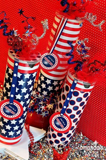 Amanda S Parties To Go July 4th Firework Favor Can Tutorial 4th Of July Fireworks 4th Of July Celebration Fourth Of July