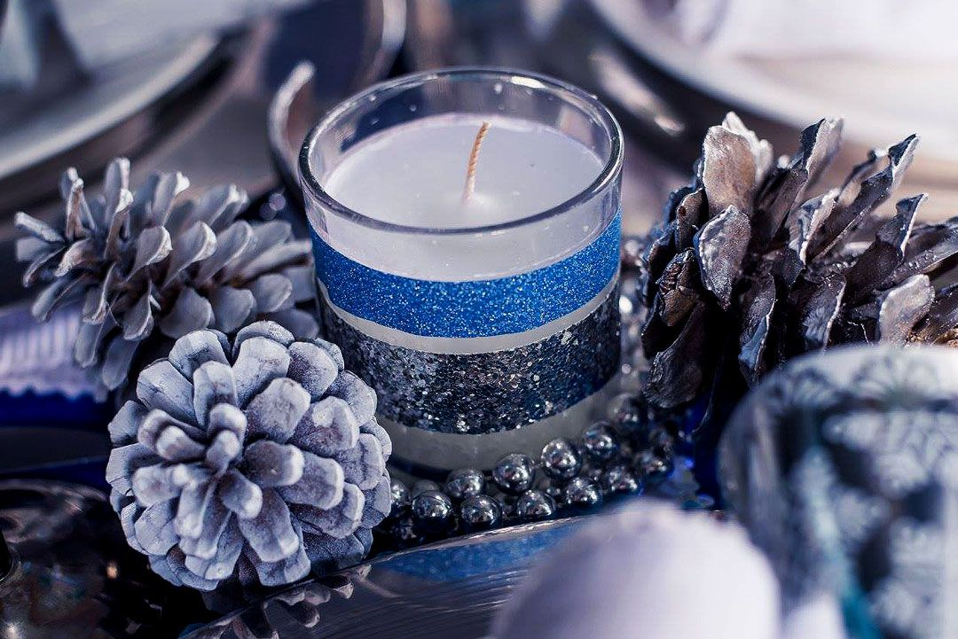 Blue and silver Christmas decor with washi tape - www.heartable.co.za