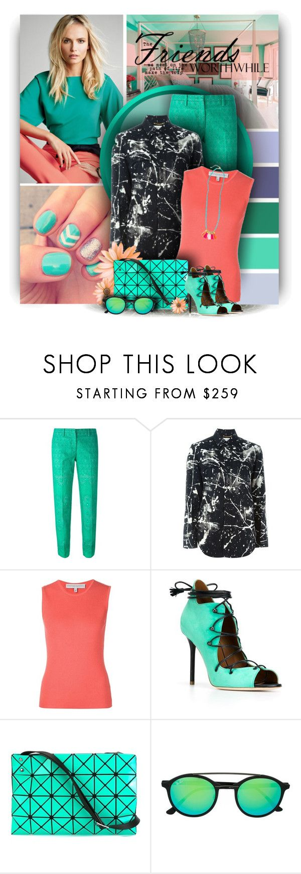 """Happy Weekend"" by christiana40 ❤ liked on Polyvore featuring N°21, Yves Saint Laurent, Carolina Herrera, Malone Souliers, Bao Bao by Issey Miyake and Ray-Ban"