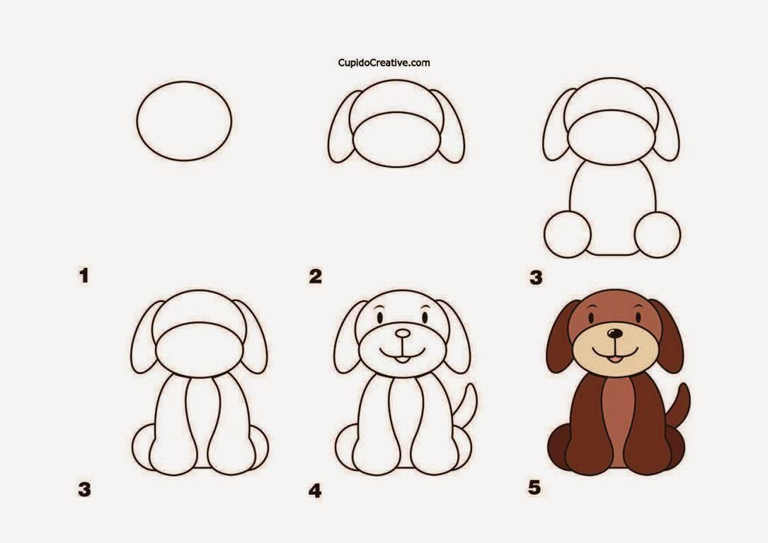 Kerajinan Anak Tksd Langkahcara Menggambar Anjing Mewarnai