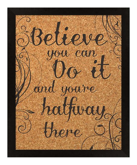 'Believe' Framed Corkboard