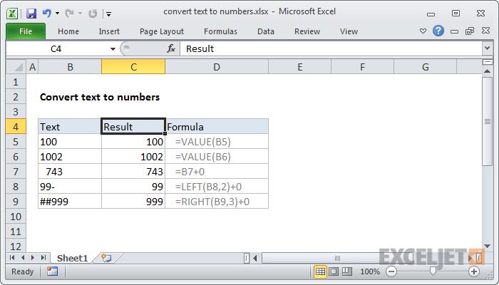 Text Convert To Number Excel Formula Converter Excel