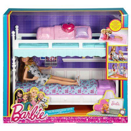 Letto A Castello Barbie.Toys Barbie Miniature E Case