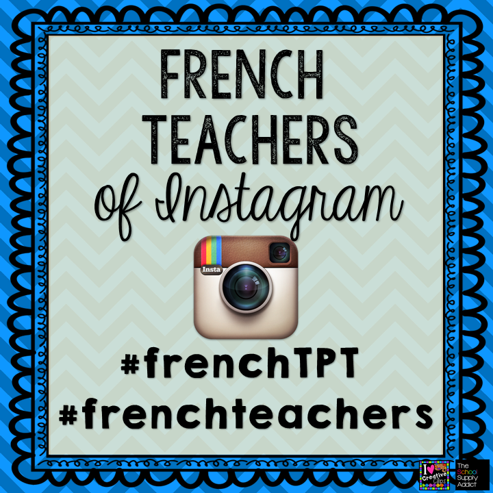 Do you use Instagram? So do a lot of your favourite TpT sellers and French teachers! Start using these two hashtags to grow our #frenchteachers community on IG!