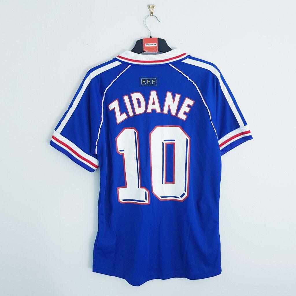 France Blue World Cup Final Football Shirt 1998 Football Shirts Classic Football Shirts Football