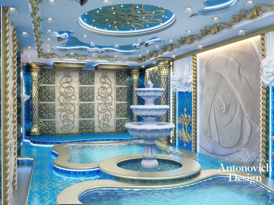Oasis of freshness and coolness from antonovich design - Decor oriental design interieur luxe antonovich ...