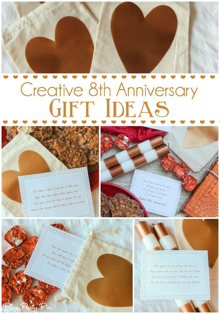 Love These Fun 8th Anniversary Gift Ideas Especially The Printable Scavenger Hunt Based On Traditional Gifts