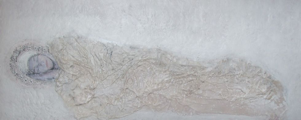 "White Memories – Susan Wallis ""Winter Dreams"" encaustic"