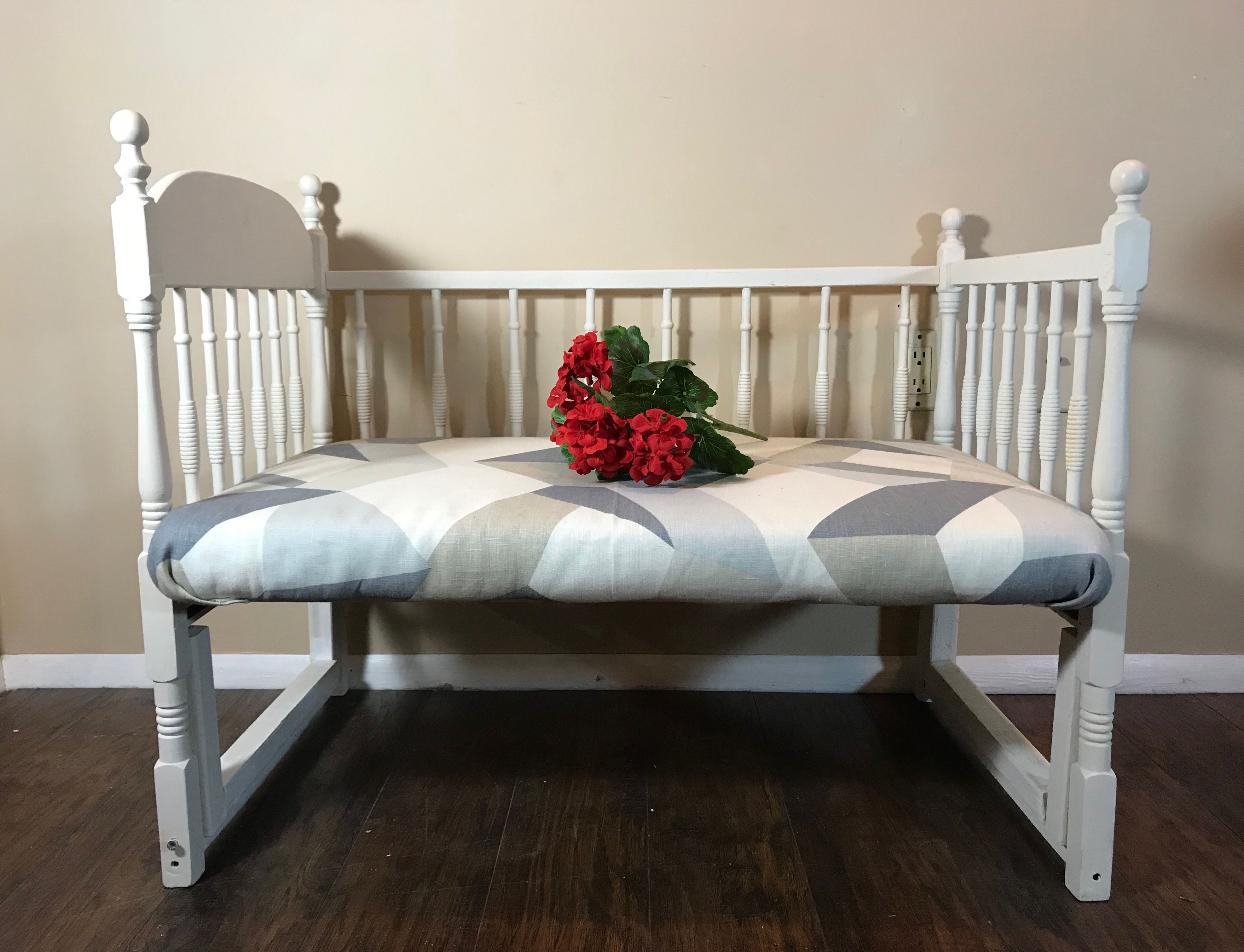 Bench from Antique Crib! Antique crib, Refurbished