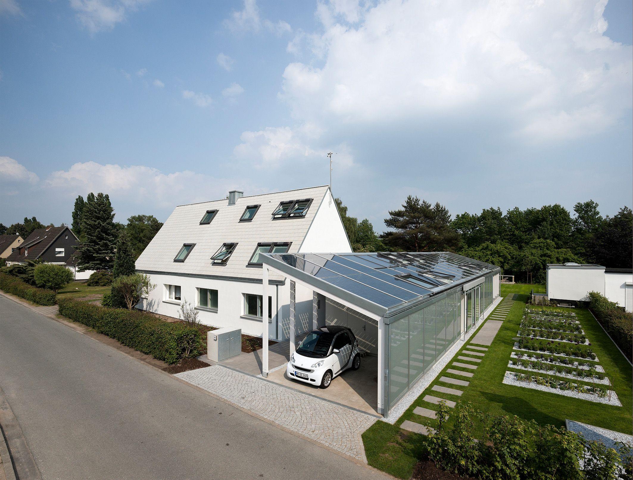 White House With White Attic Solar Panels Http://openbuildings.com/buildings