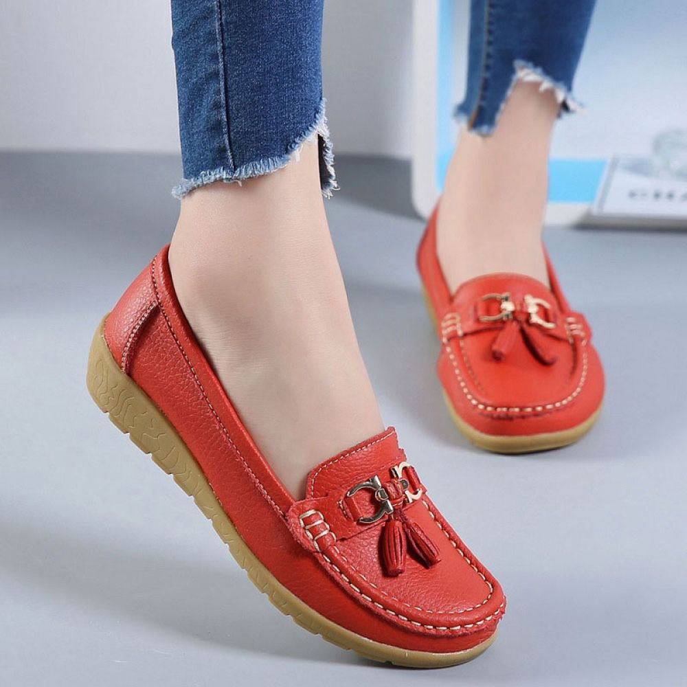 2019 Women Flats Leather Loafers Women Platform Shoes Boat Slipons Ballerina Ladies Shoes,Green,5.5