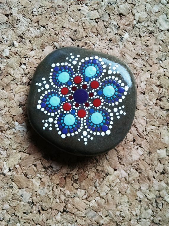Mini Art gemalt Felsen handgemalte bunte Dot von P4MirandaPitrone