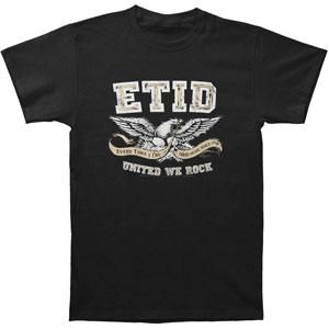 Distressed ETID & United We Rock With Eagle Holding Hard Music Since 1998 Logo Banner