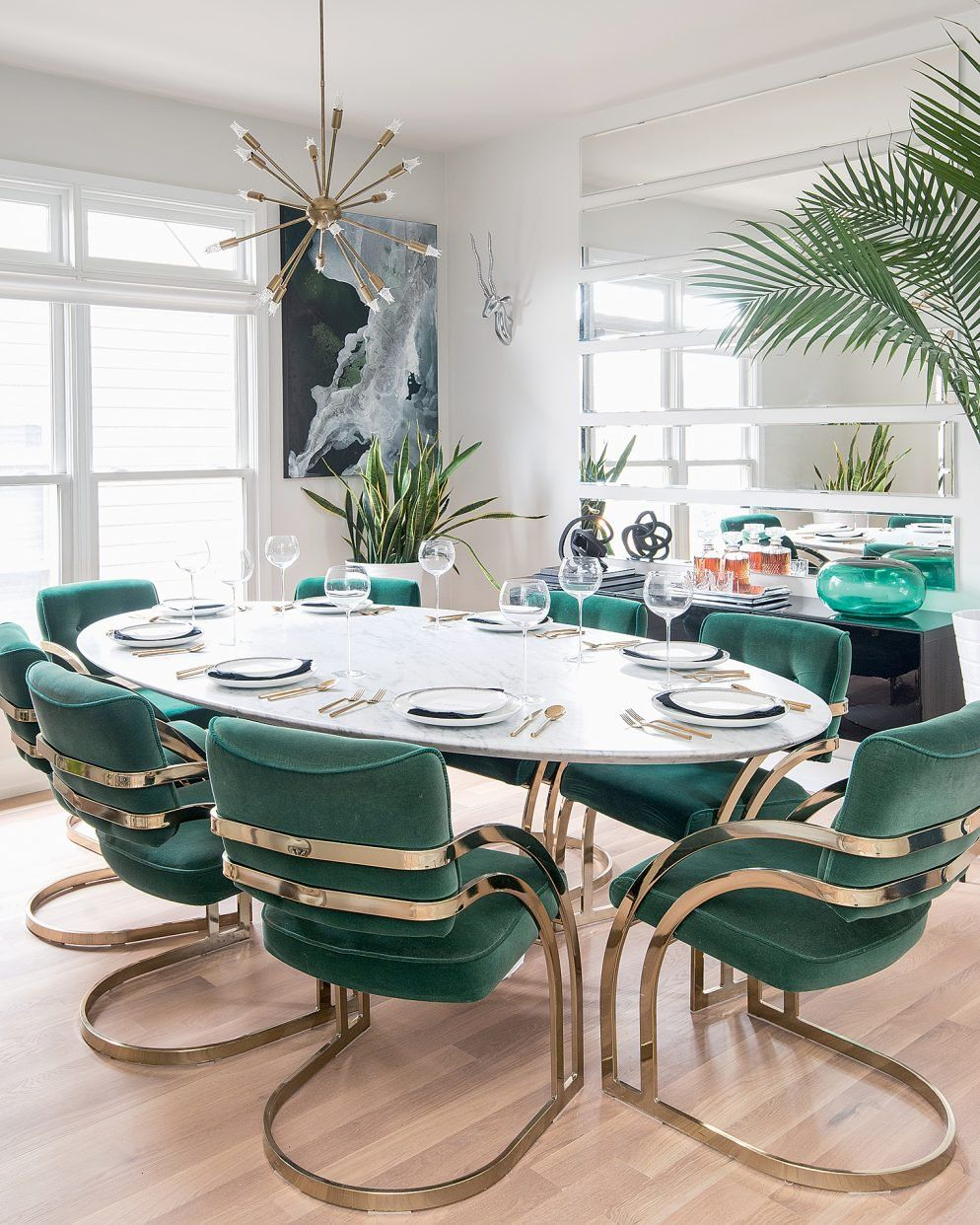 A Millennial Couple On A Budget Used Ebay And Craigslist To Create Their Dream House Luxury Dining Room Home Restoration Hardware Dining Chairs