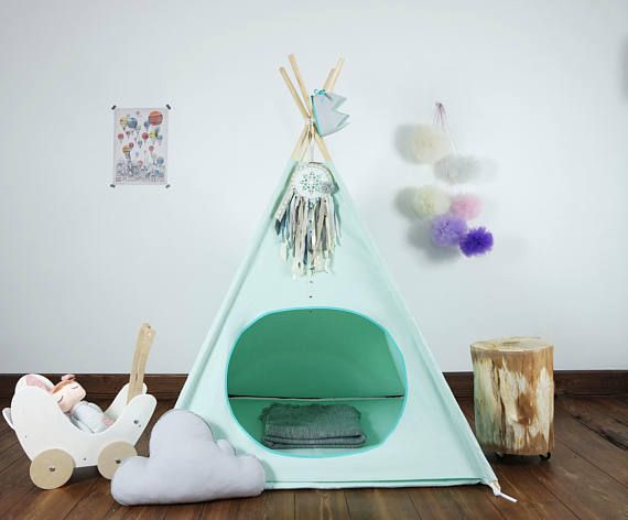 Tipi Tent Kinderkamer : Children s teepee playtent tipi zelt wigwam kids teepee tent