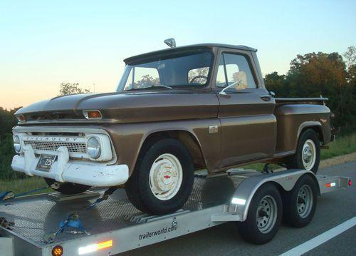 Purchase Used 1966 Chevrolet C10 Swb Stepside Pickup Truck Former