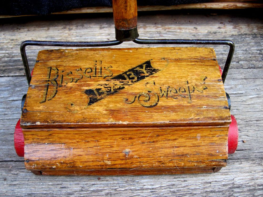1895 Antique Working Wooden Bissell S Baby Child S Toy