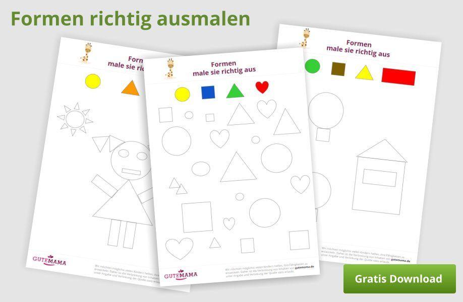 Farben Und Formen Spielerisch Lernen Deine Kinder Lernen Alles Gutemama De Formen Vorschule Kindergarten Formen Spielerisches Lernen