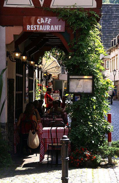 Bacharach, Germany - Cafè in der Oberstrasse
