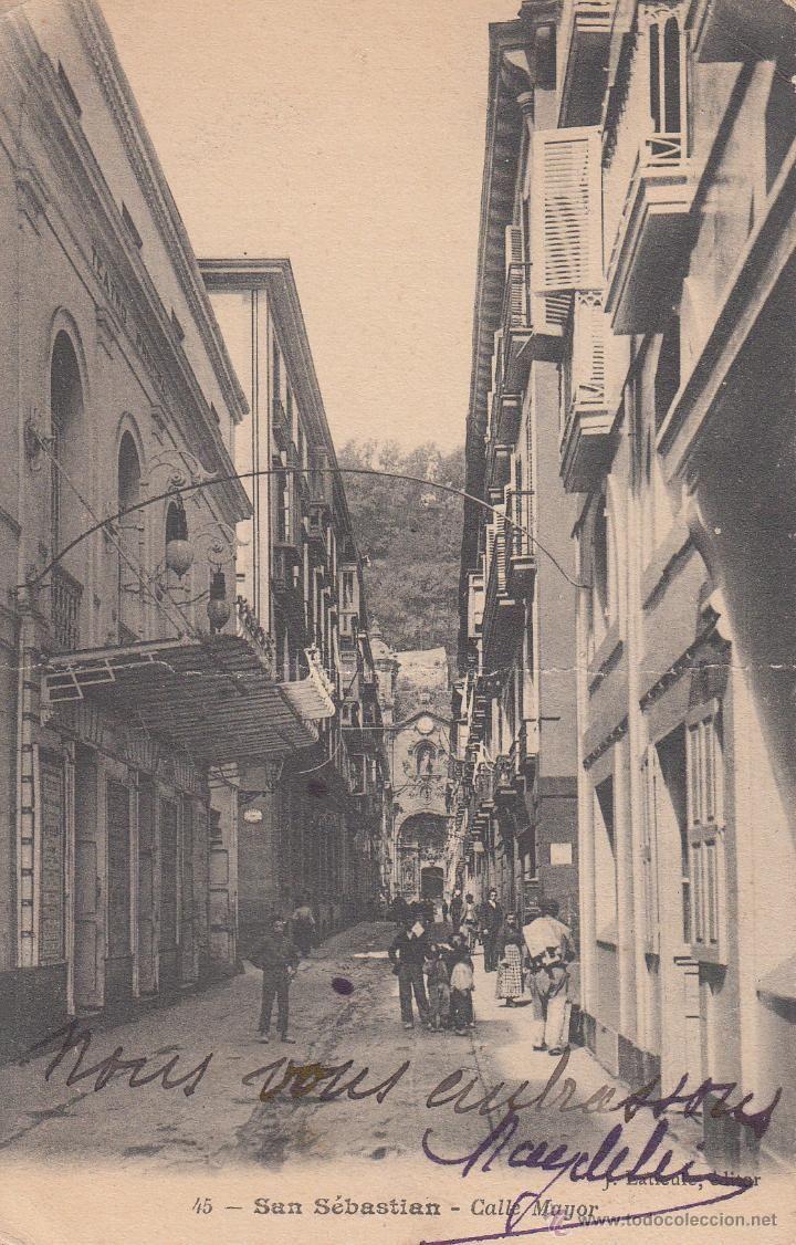 Postal San Sebastian 1905 Calle Mayor San Sebastian Fotografia Antigua Historia De La Fotografia