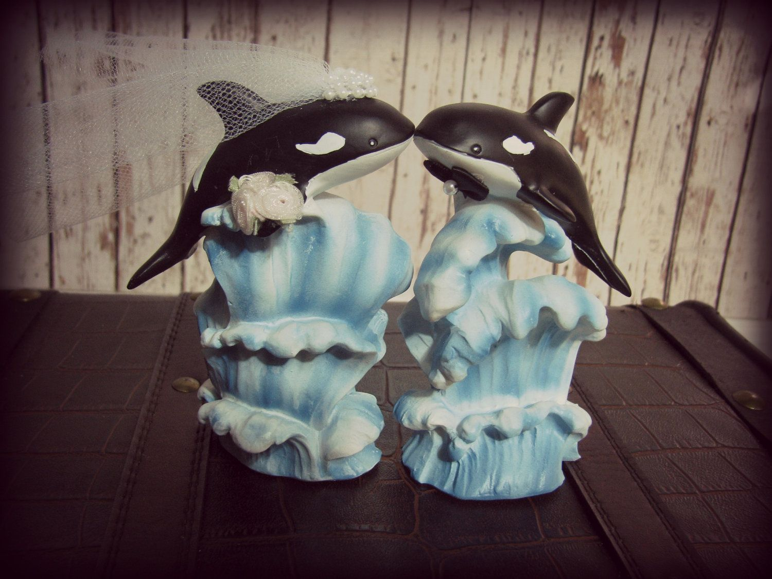 Killer Whales Wedding Cake Topper Orca Cake Topper Whale