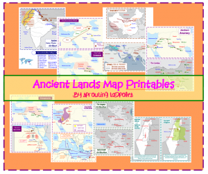 Ancient lands map set free printables sprouts homeschool and ancient lands map set free printables sciox Image collections