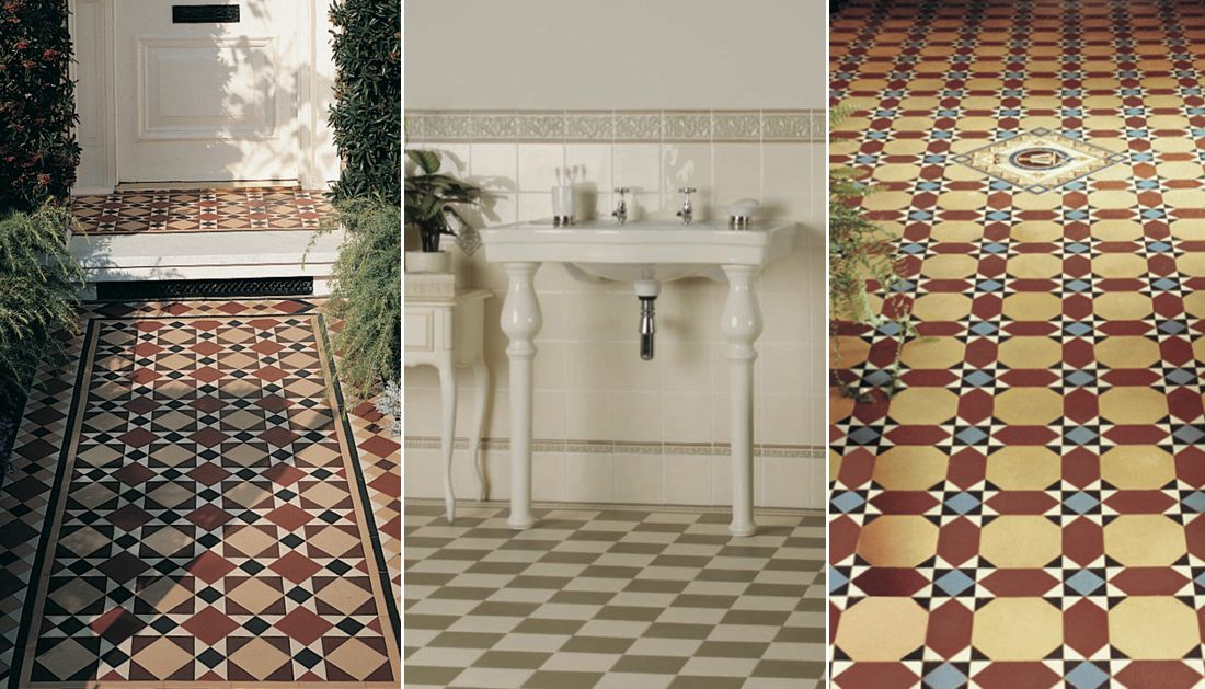 Victorian Floor Tiles From Rubbletile Three Great Looks For