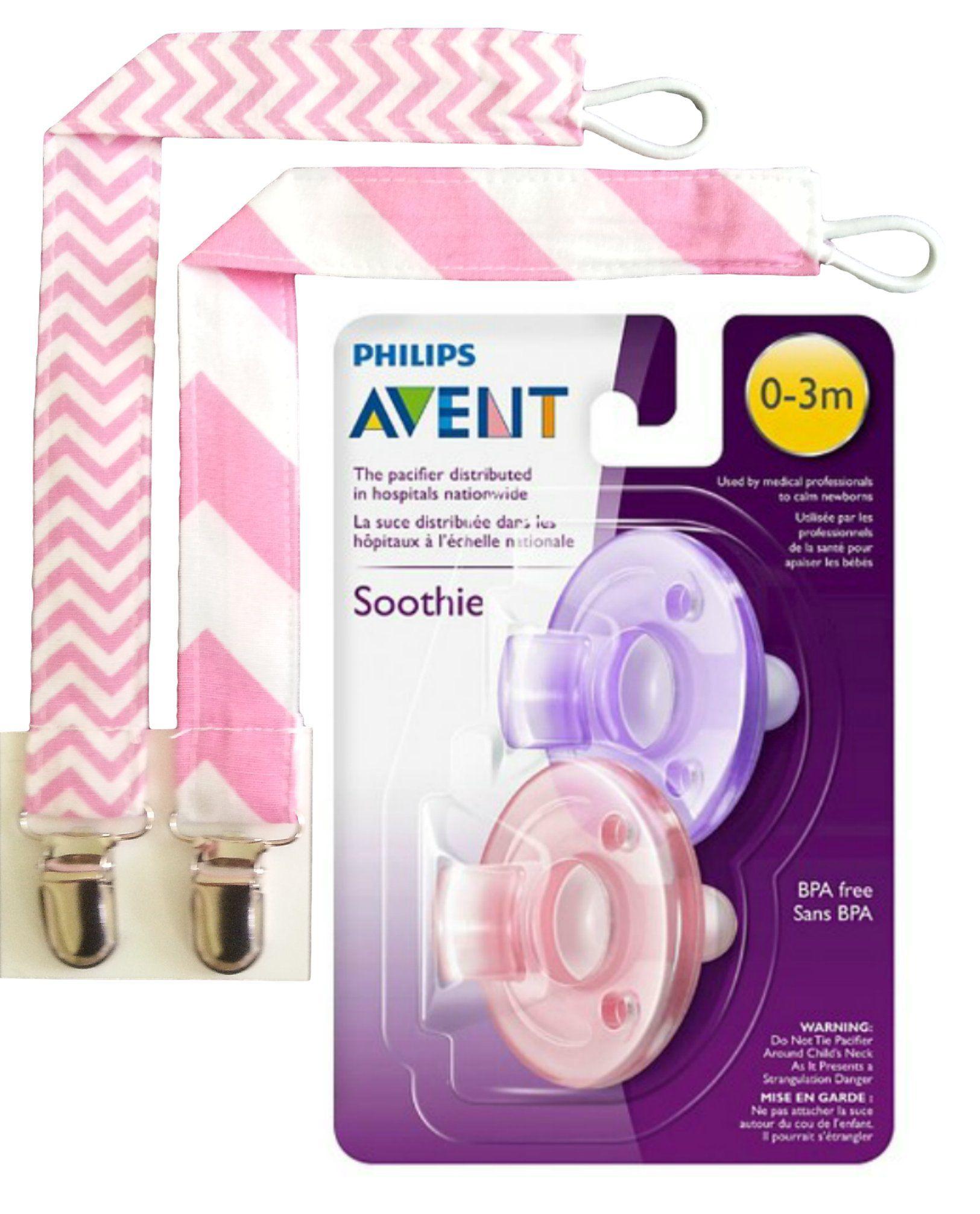Philips 2 Pack Avent Soothie Chupete 0-3 meses Rosa//Púrpura
