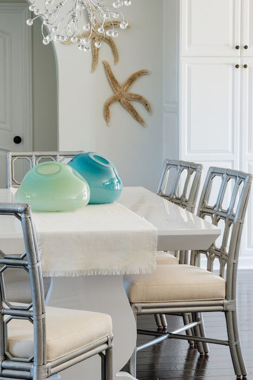 Contemporary Beach Dining Room Features A Crystal Droplet Amazing Beach Dining Room Inspiration