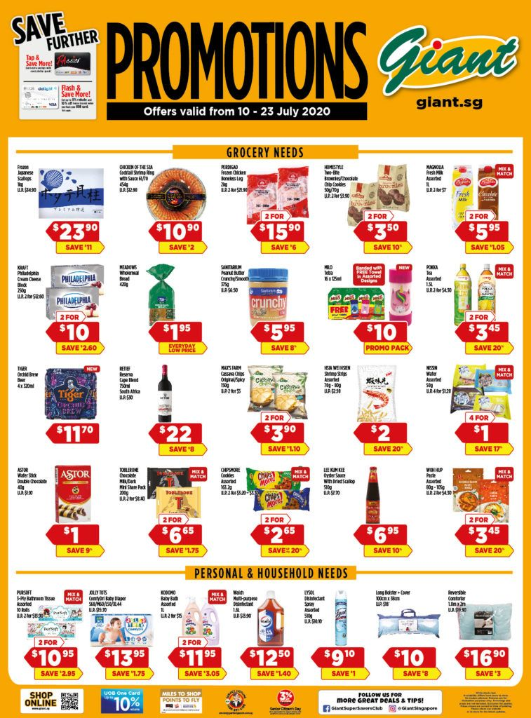 Giant Singapore Weekly Promotions 10 23 Jul 2020 10 Things Online Special Singapore