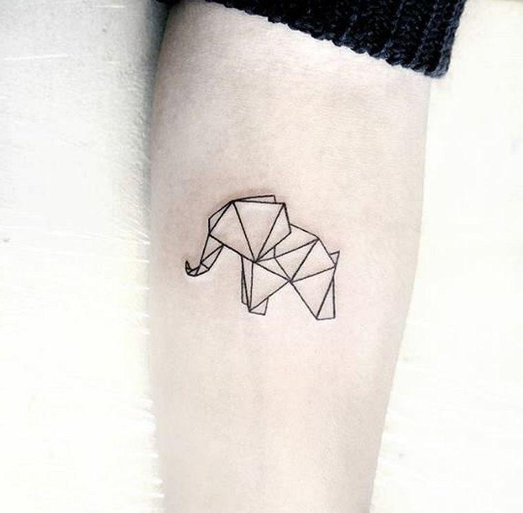 An Elephant Breathtaking Minimalist Geometric Tattoo Designs Tattoo Tattooart Tattoodesign Small Geometric Tattoo Geometric Tattoo Design Geometric Tattoo