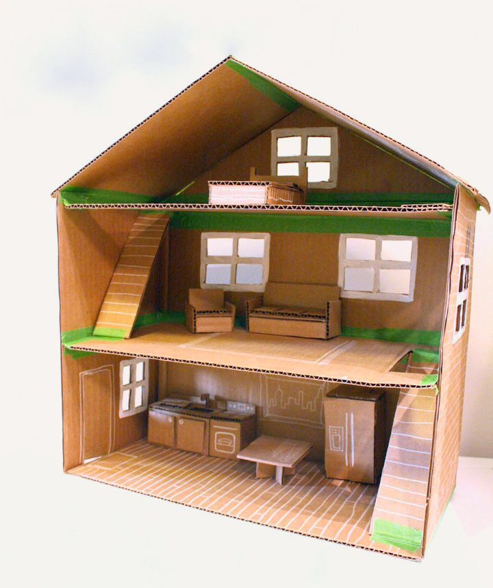 Poppenhuis - Doll House | Manualidades | Pinterest | Cartón, Muñecas ...