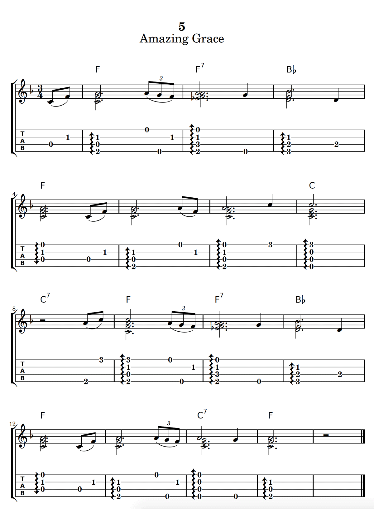 This Is A Great Solo Chord Melody Arrangement Of Amazing Grace For