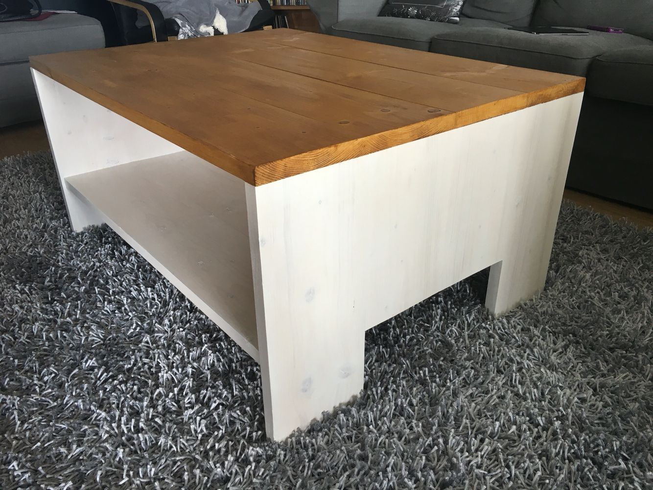 My own made rustic cofee table