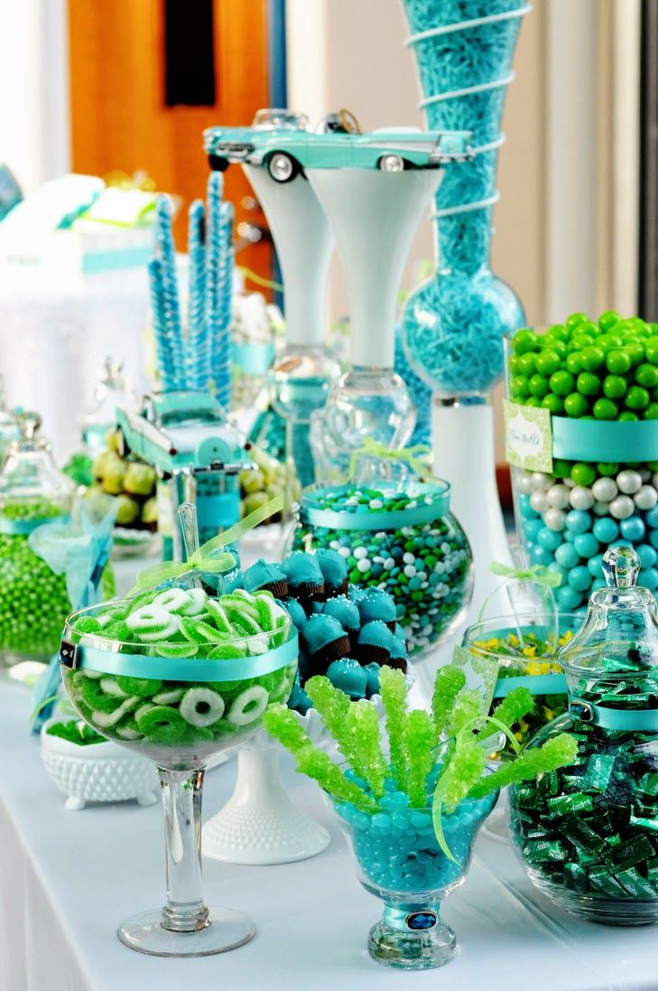 A Turquoise And Lime Green Wedding