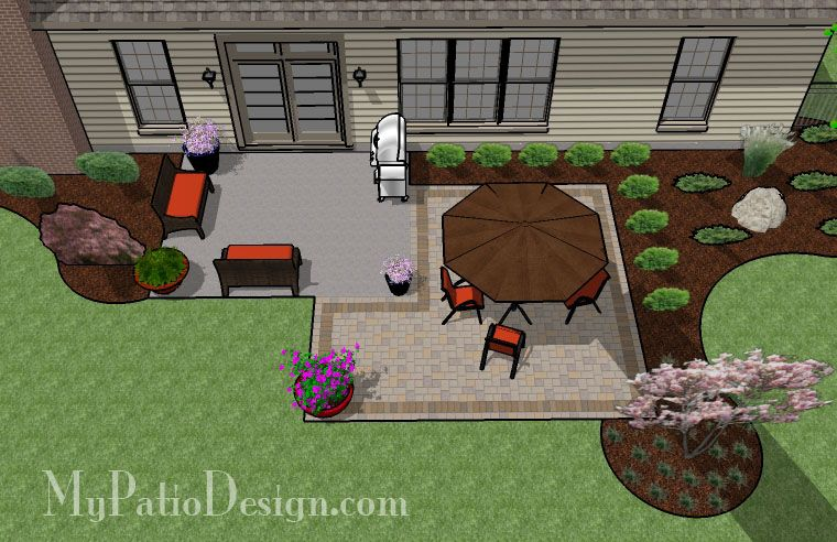Add On To Existing Cement Patio Square Paver Patio