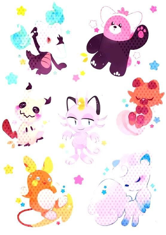 Pokemon Stickers made by ieafy -