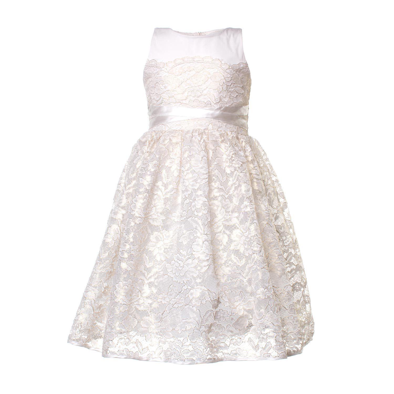 7550c8c33ca1 Pinko - Abito Pizzo Bianco 02 Bambina - Elegante abito lungo in pizzo  bianco firmato Pinko