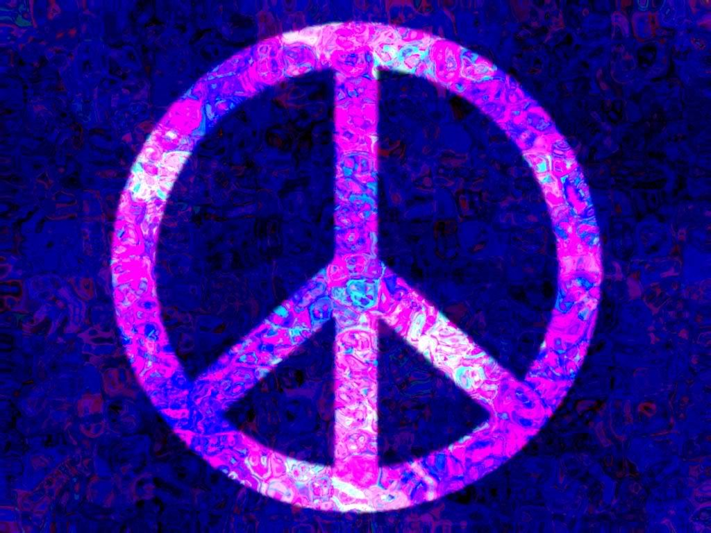 Image Gallery neon peace signs