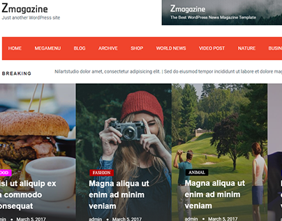 "Check out new work on my @Behance portfolio: ""Zmagazine - Blog, News & Magazine Theme"" http://be.net/gallery/53222153/Zmagazine-Blog-News-Magazine-Theme"