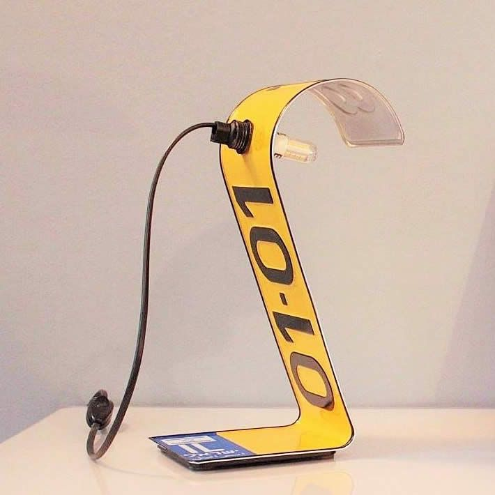 Photo of PLATE LAMP: license plate desk lighting by Studio Regev