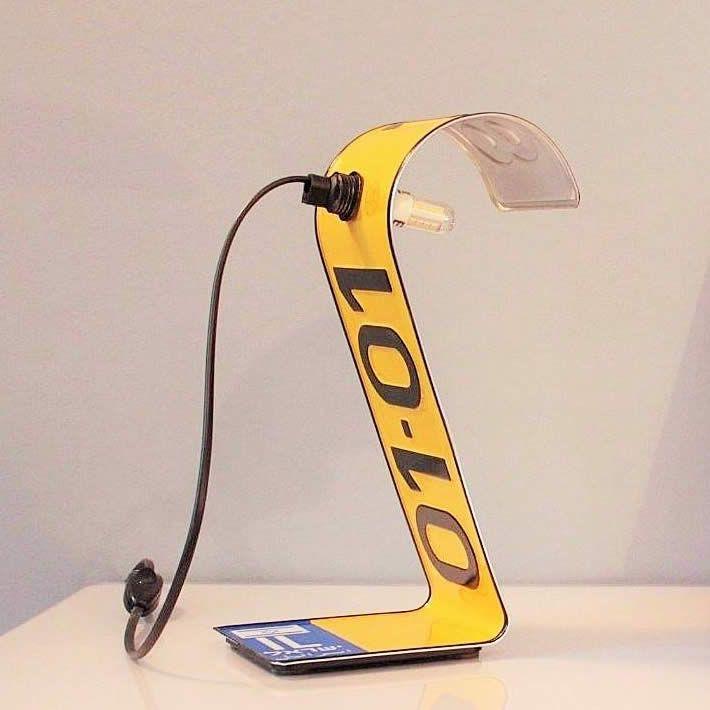 Photo of PLATE LAMP: license plate desk lighting by Studio Regev