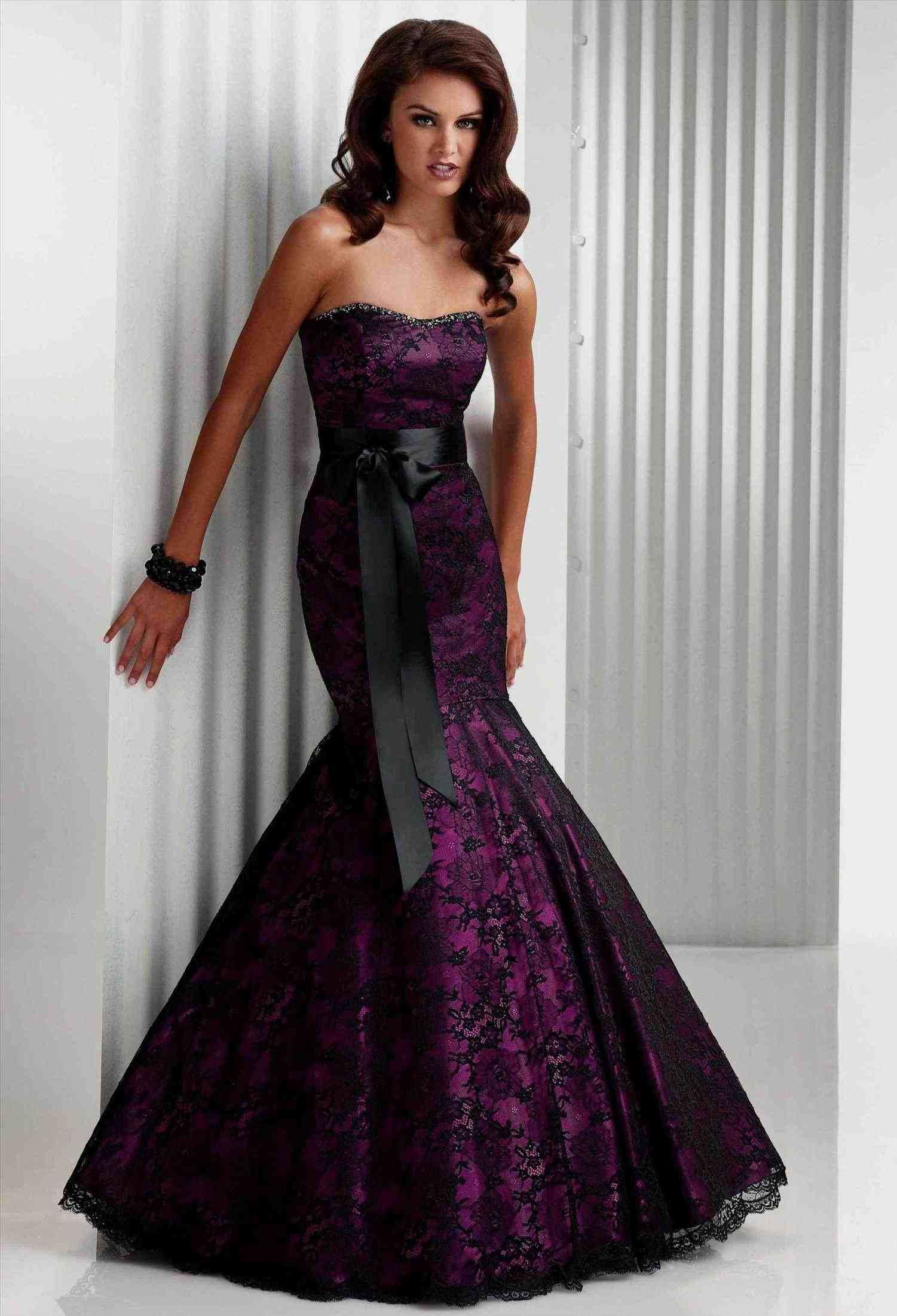 White Black And Purple Wedding Dress