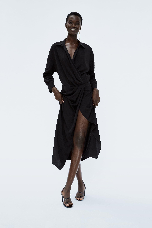 Imagen 1 De Vestido Cruzado De Zara Dresses Wrap Dress Fashion Dresses