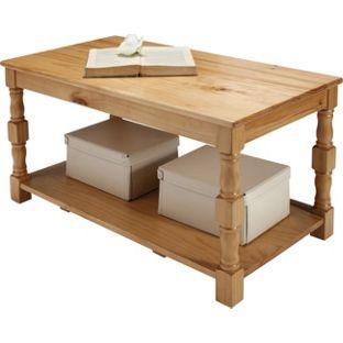 Devon Solid Pine Coffee Table Oak Effect from Homebasecouk 60