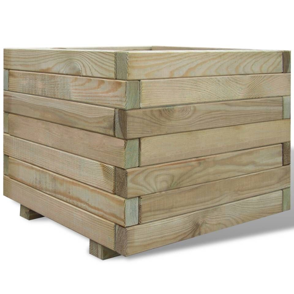 vidaXL Garden Planter FSC Impregnated Pinewood Flower Pot Bed Box Multi Sizes