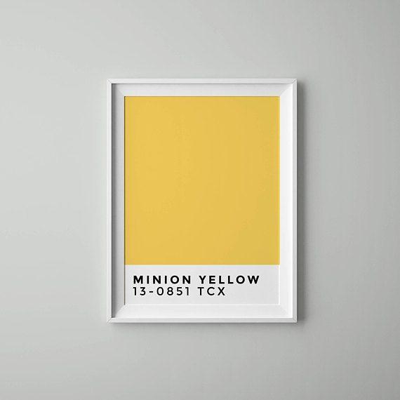 Minion Yellow Pantone Color Wall Art Decor Scandinavian | #KidsRoom ...