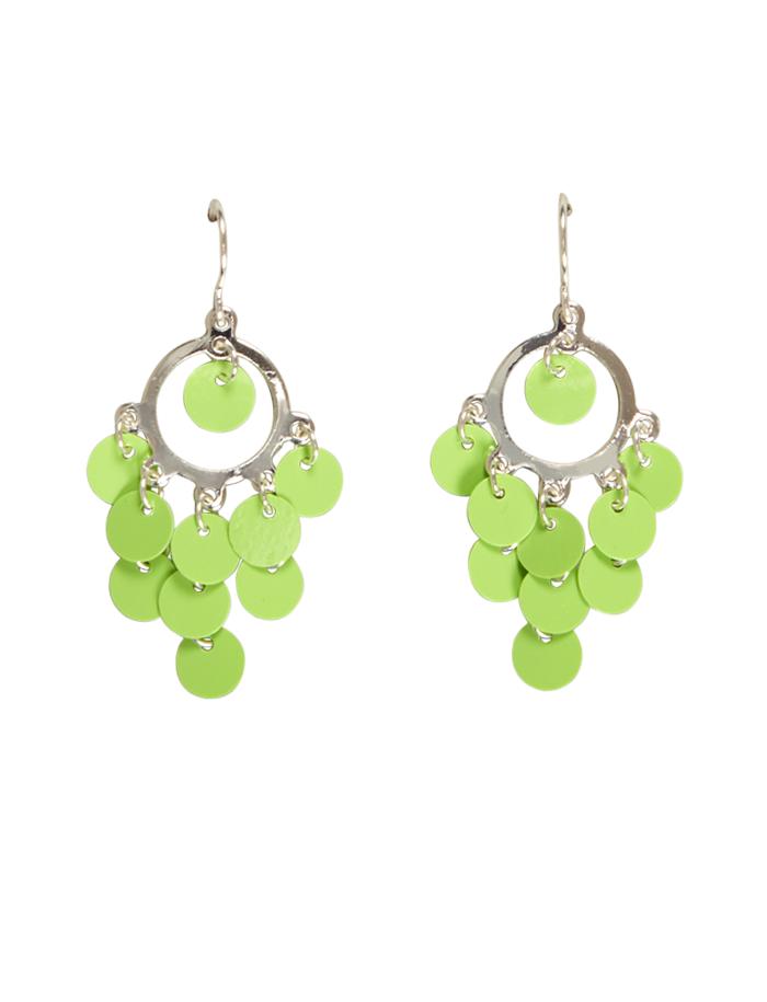 Neon Green Sequin Earrings Jewelry Justice