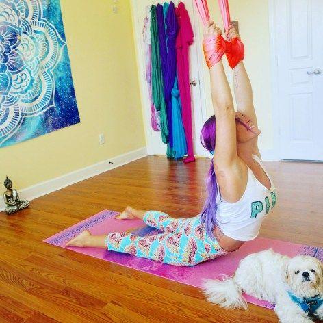 aerial yoga flow sequence  aerial yoga yoga flow