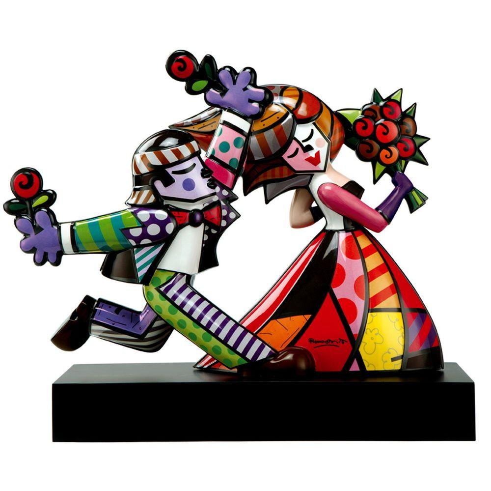 Romero Britto Pop Art From Miami Follow Me Sculpture